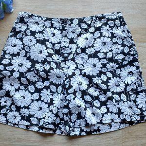 Jones NY Sport Linen Cotton Blend Floral Shorts